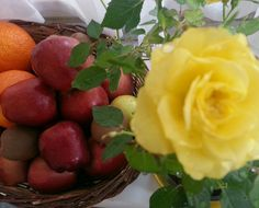 flower, yellow, freshness, fruit, food and drink, leaf, food, close-up, no people, indoors, nature, fragility, flower head, healthy eating, day