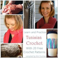 Link Blast: Learn Tunisian Crochet with 20 Free Crochet Patterns