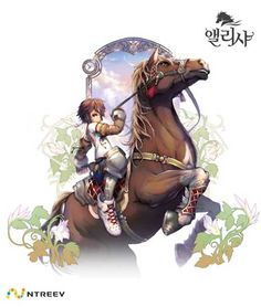 Alicia Online, a Korean horse-racing MMORPG from Ntreev. Looks like a gorgeous game~