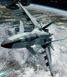 Risultati immagini per Leland Erickson War Rockets Spaceship Art, Spaceship Design, Spaceship Concept, Concept Ships, Stealth Aircraft, Fighter Aircraft, Military Aircraft, Fighter Jets, Space Fighter