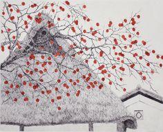 Tanaka Ryohei. Japanese artist. Copperplate etching and aquatint