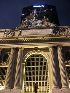Grand Central Terminal And MetLife Building At Night; Midtown ~ NYC