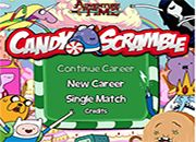 Candy Scramble Adventure Time | juegos adventure time - hora de aventura