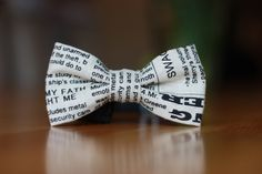 I've never worn a bow tie but I think this one is really neat. Linen newspaper bow tie.