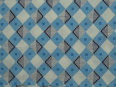 Vintage Feedsack Fabric White Blue Black by FoundinAlaska on Etsy, $9.99