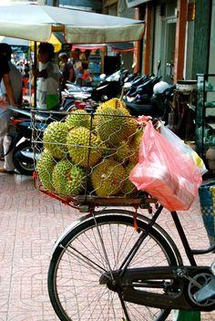 Durians in Singapore!