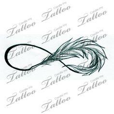 Marketplace Tattoo Infinity Feather #9642 | CreateMyTattoo.com