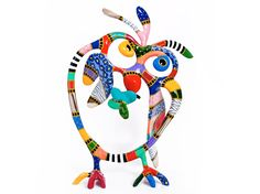 Love Dorit Levinstein's sculptures... whimsical, colorful and different...