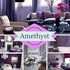February birthstone inspired home décor. Do you love it?