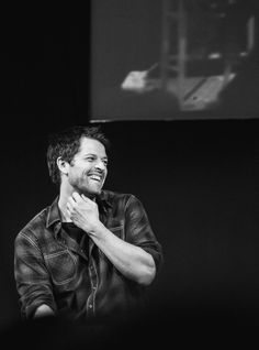 The ever sexy Misha Collins. I just love his smile!