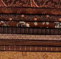 "Bridgeport ""Browns"" Fat Quarter Bundle - 9 fabrics Jo Morton"