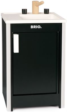 Brio Kitchen Sink, Black - Rafe's little house will need a sink to go with his oven Wooden Kitchen, Kitchen Sink, Black Kitchens, Cool Kitchens, White Stove, Tinker Toys, Shops, Brio, Toys Shop