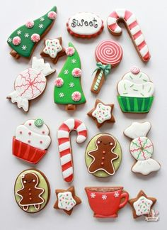 How to Color Icing Red & Whimsical Christmas Cookies