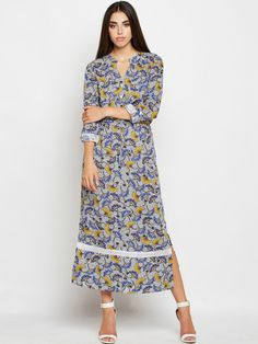 188204f73ae Shop Oxolloxo Women Blue   White Printed Shirt Dress from Shoprapy !