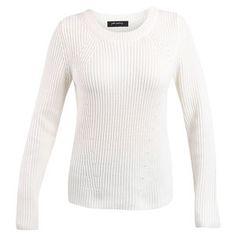 Peter Morrissey Crew Rib Pullover - Cream - Size 16