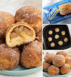 Air Fryer Apple Pie Bombs are tiny little bites of fried apple pie that you can pop in your mouth. They are so tasty when you serve them warm, fresh out of the Air Fryer! #applepie #airfryer #dessert #yummy #food #recipe Air Fryer Recipes Dessert, Air Fryer Oven Recipes, Air Frier Recipes, Apple Bite, Crock Pot Food, Fried Apples, Breakfast Pastries, Tasty, Yummy Food