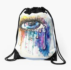 Eye Color Love bring high key attention, and conversations. Fine art style illuminati eye on crazy items, designed by popular UK Artist Sophie Appleton. / Watercolor is about swirling rainbows of overwhelming love pouring from the soul. • Also buy this artwork on bags, apparel, phone cases, and more.