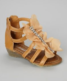 Orange Gladiator Sandal #zulily #zulilyfinds