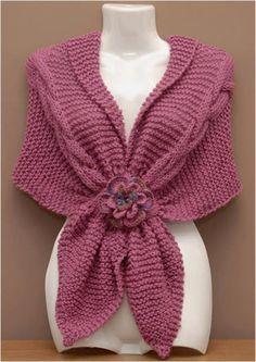 Diy Crafts - -tejidos - Her Crochet Knitted Capelet, Crochet Poncho, Crochet Scarves, Lace Knitting, Crochet Cowl Free Pattern, Crochet Amigurumi Free Patterns, Knitting Patterns Free, Diy Crafts Knitting, Quick Crochet