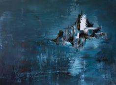 "Saatchi Art Artist Dinara Omarova; Painting, ""Skiing at Midnight"" #art"
