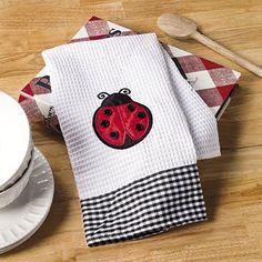 Ladybug Dish Towel- I want my kitchen done in ladybugs Dish Towels, Tea Towels, Kitchen Towels, Kitchen Decor, Kitchen Ideas, Kitchen Stuff, Ladybug Picnic, Ladybug Party, Class Decoration