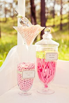 Candy at a vintage wedding #wedding #candy