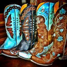 Old Gringo Boots. Aqua. RiverTrail Mercantile, North Carolina.