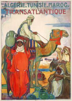 Algerie ~ Tunisie ~ Maroc Transatlantique Vintage Travel Poster http://1.bp.blogspot.com/-hA9qlpJAKWs/UAIa4y2pkvI/AAAAAAAATPA/BncqiFbPlrQ/s1600/jeanne%2Bthil%2B1.jpgjeanne+thil+1.jpg http://