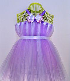 Purple & White TuTu Dress