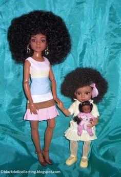 Black Doll Collecting: Buttercup Trixie and Predecessors Beautiful Barbie Dolls, Vintage Barbie Dolls, Pretty Dolls, Cute Dolls, Afro, Black Baby Dolls, Barbie Family, African American Dolls, Black Barbie