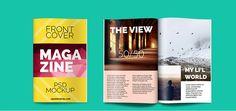 35 Creative and High-Quality Magazine PSD Mockups | WebSurfMedia