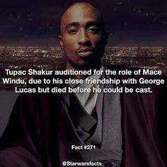 What do you think of Tupac as Mace Windu? (Source: Starwars.wikia.com) #starwarsfacts by starwarsfacts_ Star Wars Meme, Star Wars Facts, Movie Facts, Fun Facts, Mace Windu, Star Wars Images, Star Wars Baby, Tupac Shakur, George Lucas