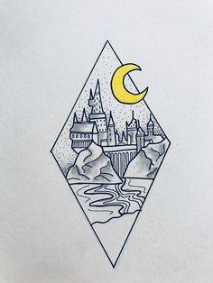 Tattoo harry potter hogwarts tat 32 ideas for 2019 Harry Potter Tumblr, Harry Potter Tattoos, Hogwarts Tumblr, Art Harry Potter, Harry Potter Drawings, Harry Potter Hogwarts, Pencil Art Drawings, Cute Drawings, Art Sketches