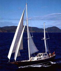 80' Palmer Johnson sailing yacht CARIBANA for sale from All Ocean Yachts.