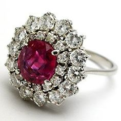 Estate Diamond and Ruby Ballerina Ring