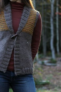 Freeport (shawl collar vest). I LOVE THIS!!! I'm not a big vest wear-er-er, but I love the style of this, totally FL-friendly when it's cold, but not enough for a full-blown sweater.