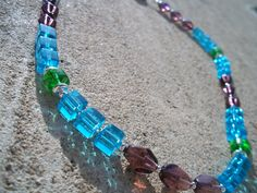 Tri-Color Glass Necklace