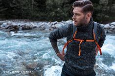 Sweter męski BERNARDO w kolorze ciemnoszarym od Giacomo Conti. Wykonany z najwyższej jakości wełny z domieszką alpaki gwarantuje wysoki komfort noszenia. Golf oraz ściągacze przy rękawach i na dole swetra zapewnią skuteczną ochronę przed chłodem. Warkoczowy splot dodaje swetrowi oryginalności. Idealnie uzupełni wiele męskich stylizacji. Bradley Mountain, Golf, Winter, Collection, Fashion, Mont Blanc, Winter Time, Moda, Fashion Styles