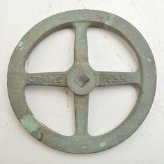 Steam Wheel From a Shipwreck, Deep Sea Salvage Artifact, RARE! (V3040)