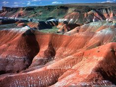 Painted Desert, Arizona. One of the places you have to see in person to really appreciate.--- Wells and I were there a couple of summers ago ... Amazing and beautiful!