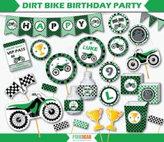 Dirt Bike Birthday - Motocross Party - Motorcycle Party - Dirtbike Birthday…