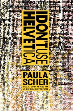 Paula Scher controversy with Helvetica quote Paula Scher, Typography Inspiration, Graphic Design Inspiration, Jazz Poster, Design Theory, Typographic Poster, Types Of Lettering, Pattern Illustration, Modern Graphic Design