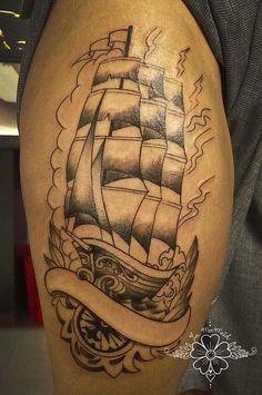 In progress Sailing Tattoo, Tattoos, Candle Tattoo, Irezumi, Tattoo, Tattoo Illustration, A Tattoo, Tattoo Ink, Tattoo Designs