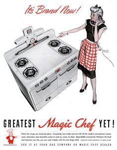 The greatest Magic Chef yet!!! #vintage #kitchen #stove #1940s #homemaker #housewife