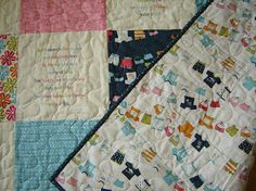 Tutorial: Kimberley's stitched poetry beach quilt · Quilting   CraftGossip.com