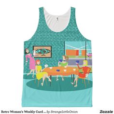 Retro Women's Weekly Card Game Tank Top All-Over Print Tank Top