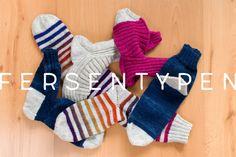 Kleiner Sockenlehrgang: Fersentypen im Überblick - Lanade Knitting Socks, Knit Socks, Fingerless Gloves, Arm Warmers, Christmas Stockings, Needlework, Holiday Decor, Handmade, Tricks