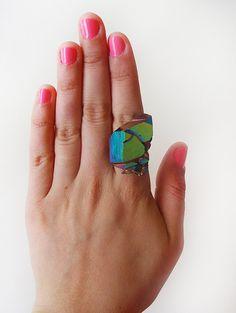 titanium quartz druzy ring $70