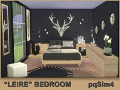 "Sims 4 CC's - The Best: ""Leire"" Bedroom by pqSim4"