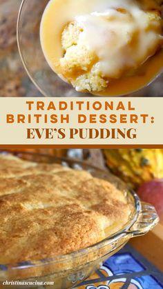 Custard Desserts, Custard Recipes, Pudding Desserts, Tea Recipes, Apple Recipes, Sweet Recipes, Baking Recipes, Delicious Desserts, Yummy Food